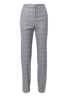 Tibi Cooper Plaid Jogger Pants