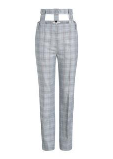 Tibi Cooper Tailored Wool Pants with Silk