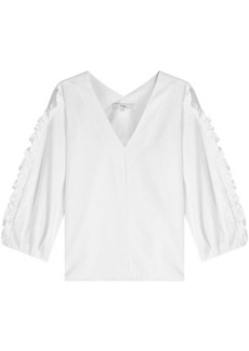 Tibi Cotton Blouse with Ruffles