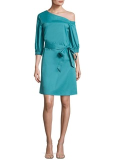 Tibi Cotton Poplin Asymmetrical Dress