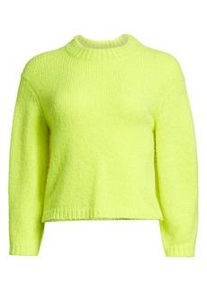 Tibi Cozette Neon Alpaca-Blend Sweater