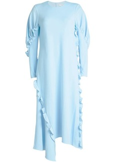 Tibi Crepe Dress with Ruffles
