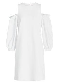 Tibi Crepe Dress with Ruffles
