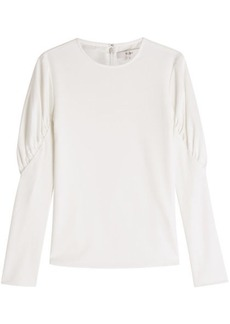 Tibi Crepe Top with Statement Shoulders