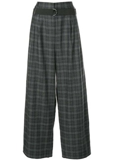 Tibi cropped checked trousers