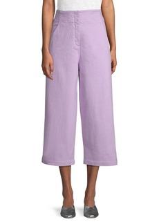 Tibi Cropped Cotton Jeans