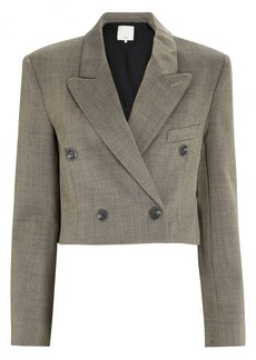 Tibi Cropped Double-Breasted Blazer