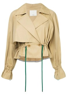 Tibi cropped trench coat