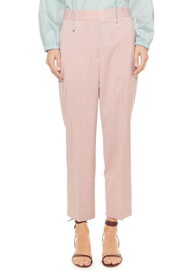 Tibi Cross Dye Wool Taylor Mid-Rise Pants