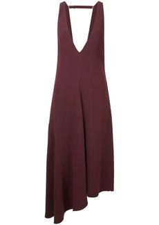 Tibi deep V back midi dress