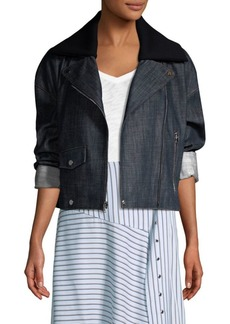 Tibi Denim Biker Jacket