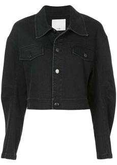 Tibi denim cropped Jean jacket