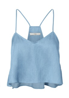 Tibi Denim Cropped Tank
