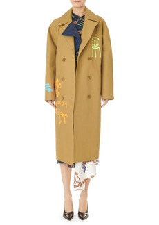 Tibi Double-Breasted Maxi Coat