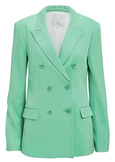 Tibi Double-Breasted Mint Blazer