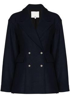 Tibi double-breasted wool blazer
