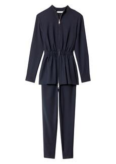 Tibi Double-Layer Plain-Weave Jumpsuit