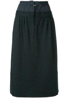 Tibi double waist mid-length skirt