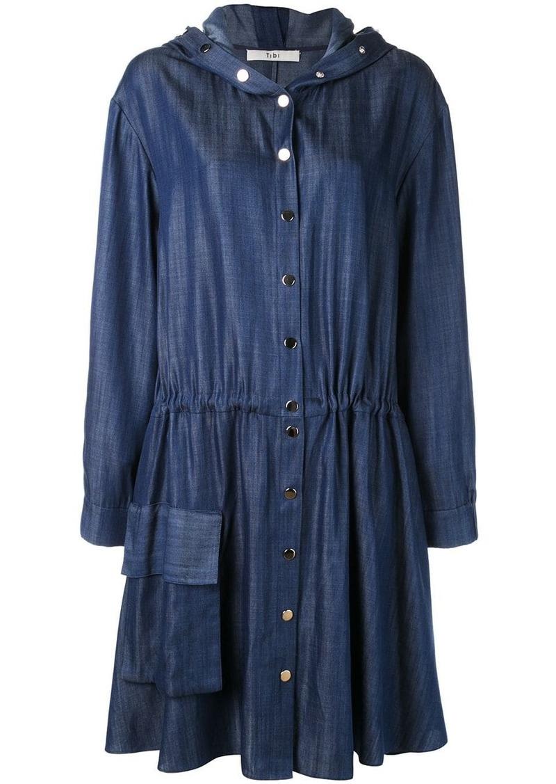 Tibi draped mid-length dress