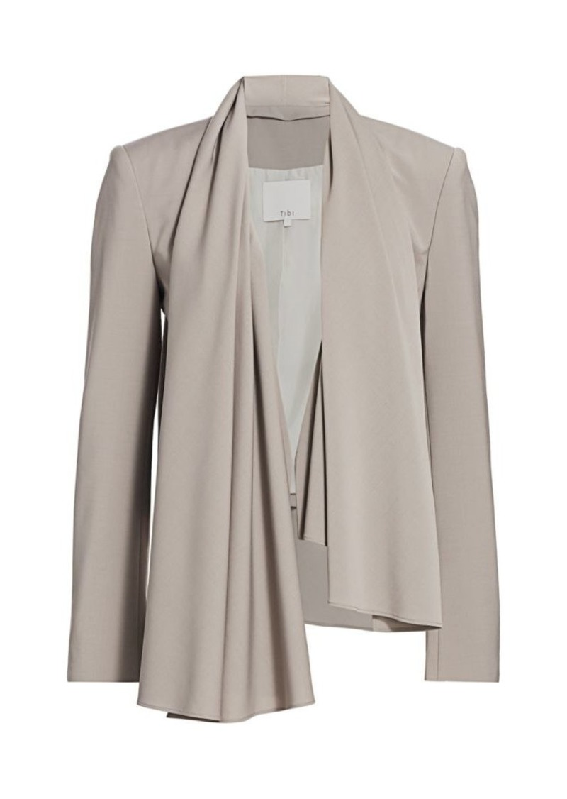 Tibi Draped Asymmetric Jacket