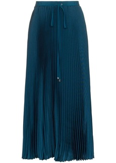 Tibi drawstring pleated midi skirt