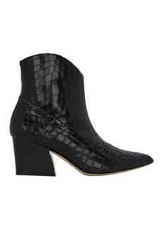 Tibi Dylan Embossed Booties