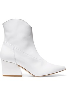 Tibi Dylan Patent-leather Ankle Boots