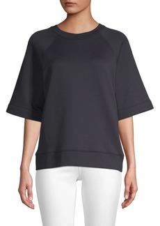 Tibi Easy Cotton-Blend Sweatshirt