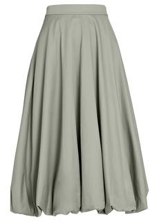 Tibi Eco Poplin Midi Bubble Skirt
