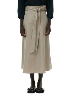 Tibi Eco Poplin Wrap Skirt