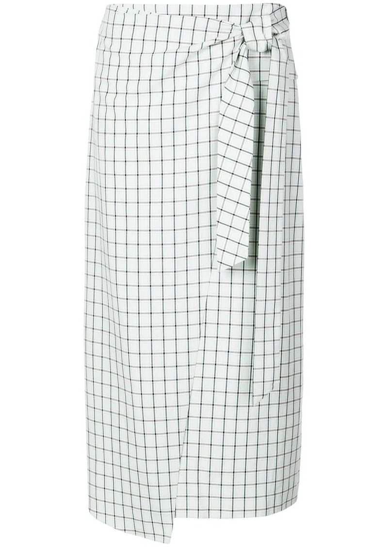 Tibi Elliot checked skirt
