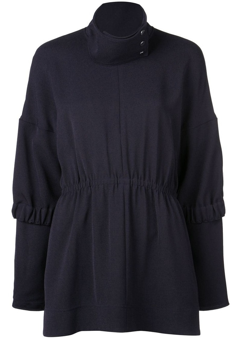 Tibi Esme Crepe tunic top
