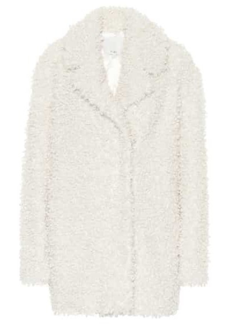Tibi Faux curly shearling coat