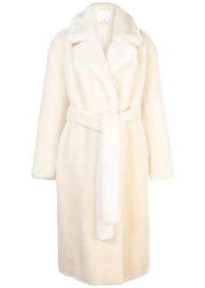 Tibi faux fur oversized trench