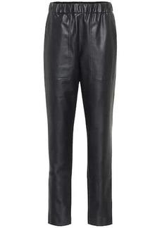 Tibi Faux leather pants