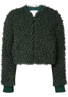 Tibi faux shearling bomber jacket
