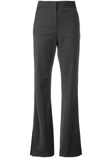 Tibi flared pinstripe trousers