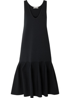 Tibi Fluted Stretch-ponte Dress