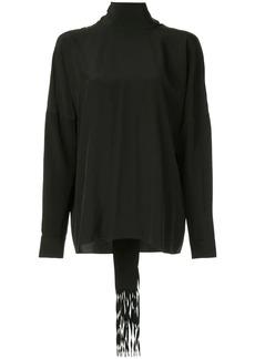 Tibi fringed scarf blouse