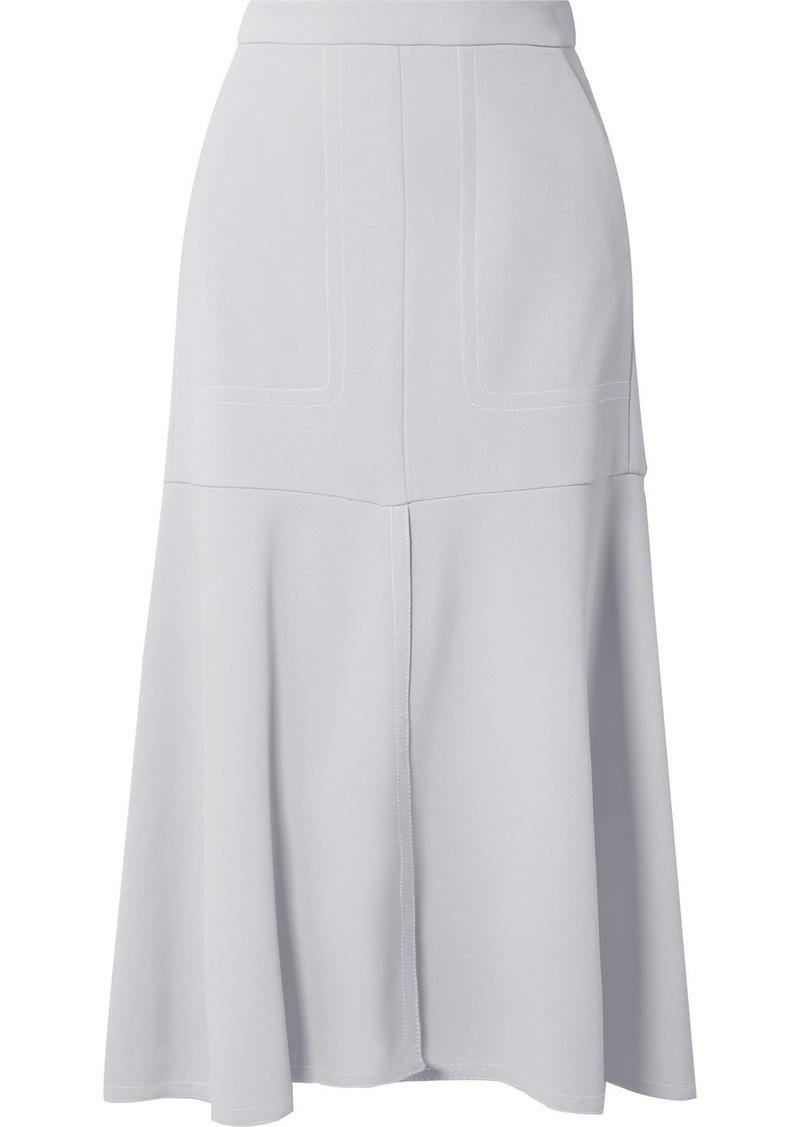 Tibi Frisse Ponte Midi Skirt