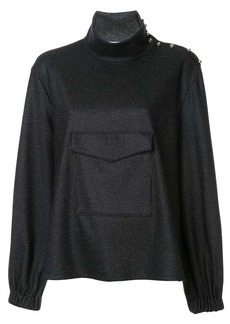 Tibi funnel neck top