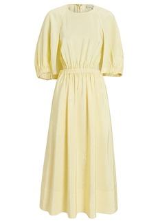 Tibi Gemma Midi Cape Dress