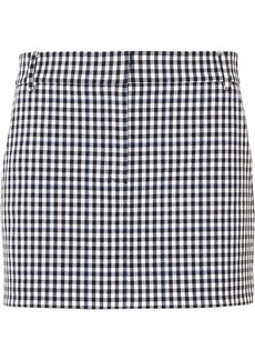 Tibi Gingham Twill Mini Skirt