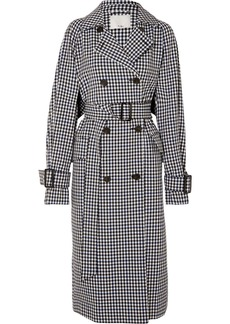Tibi Gingham Twill Trench Coat
