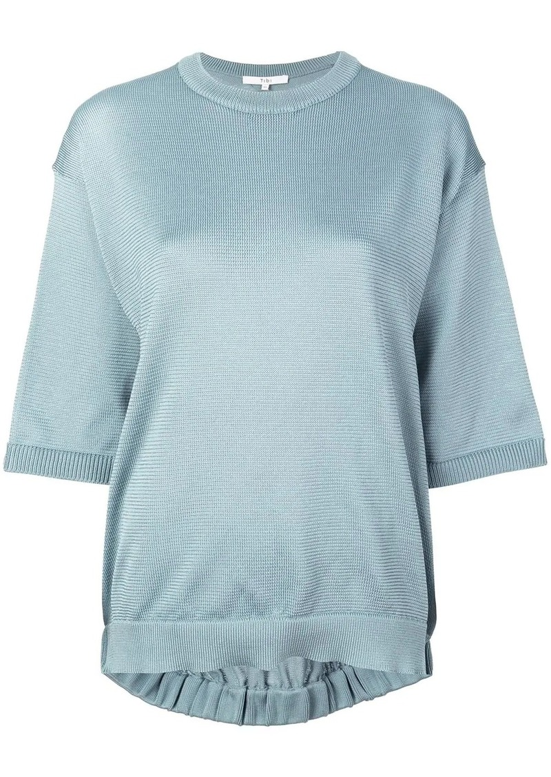 Tibi half-sleeve knitted sweater