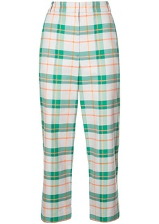 Tibi Hani plaid tailored trousers