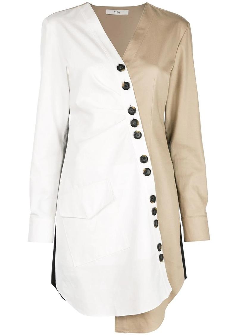 Tibi Harrison asymmetric shirt dress