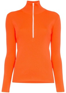 Tibi high neck knitted track top