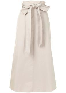 Tibi high-rise tied-waist midi skirt