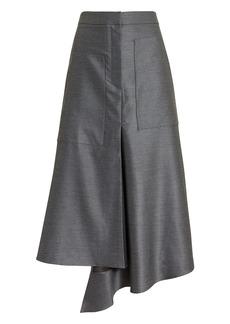 Tibi High Waist Draped Skirt